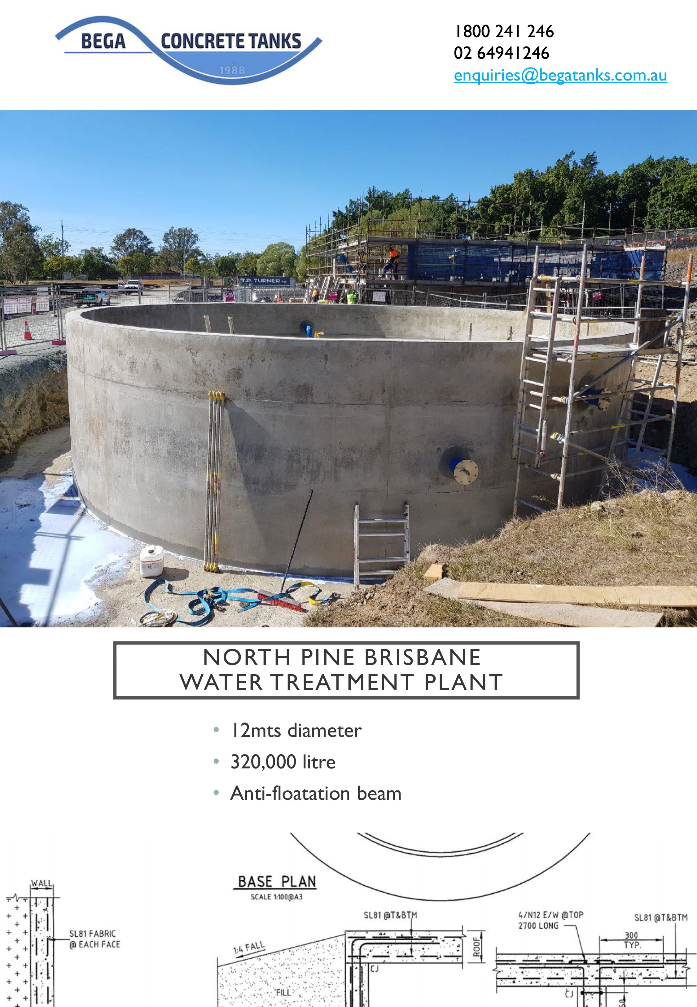 north pine concrete tank