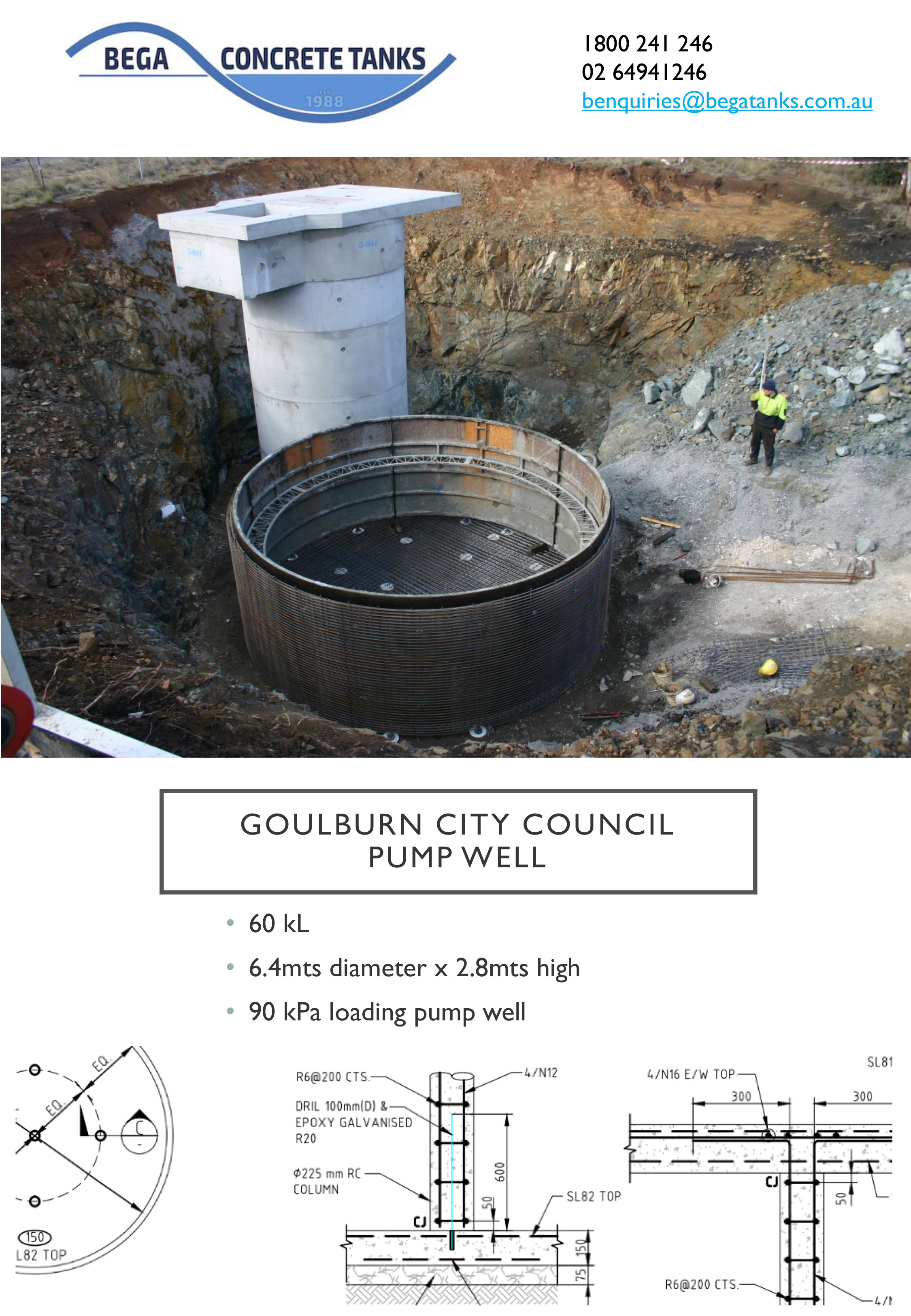 goulburn city concrete tank