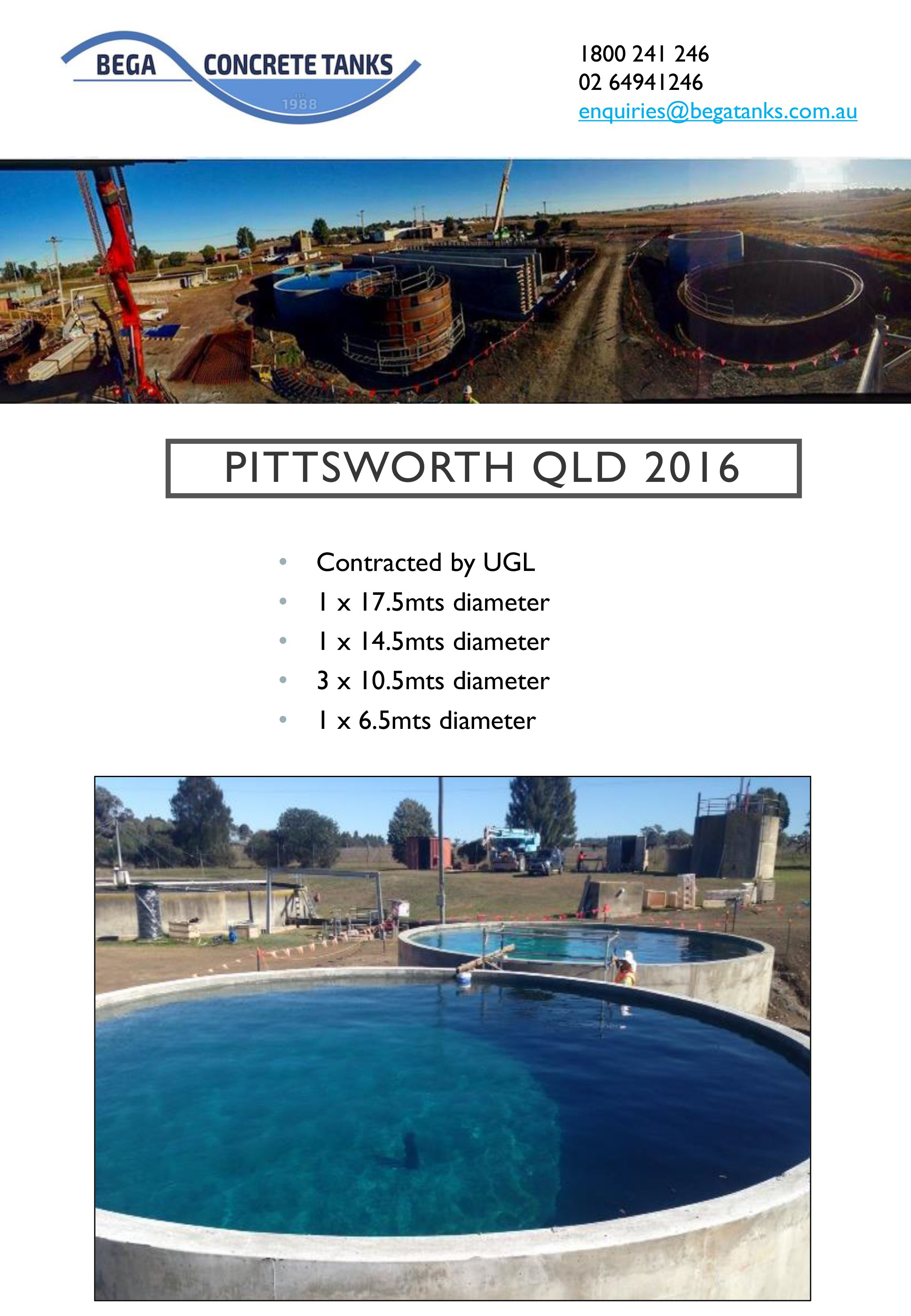 Pittsworth concrete tank