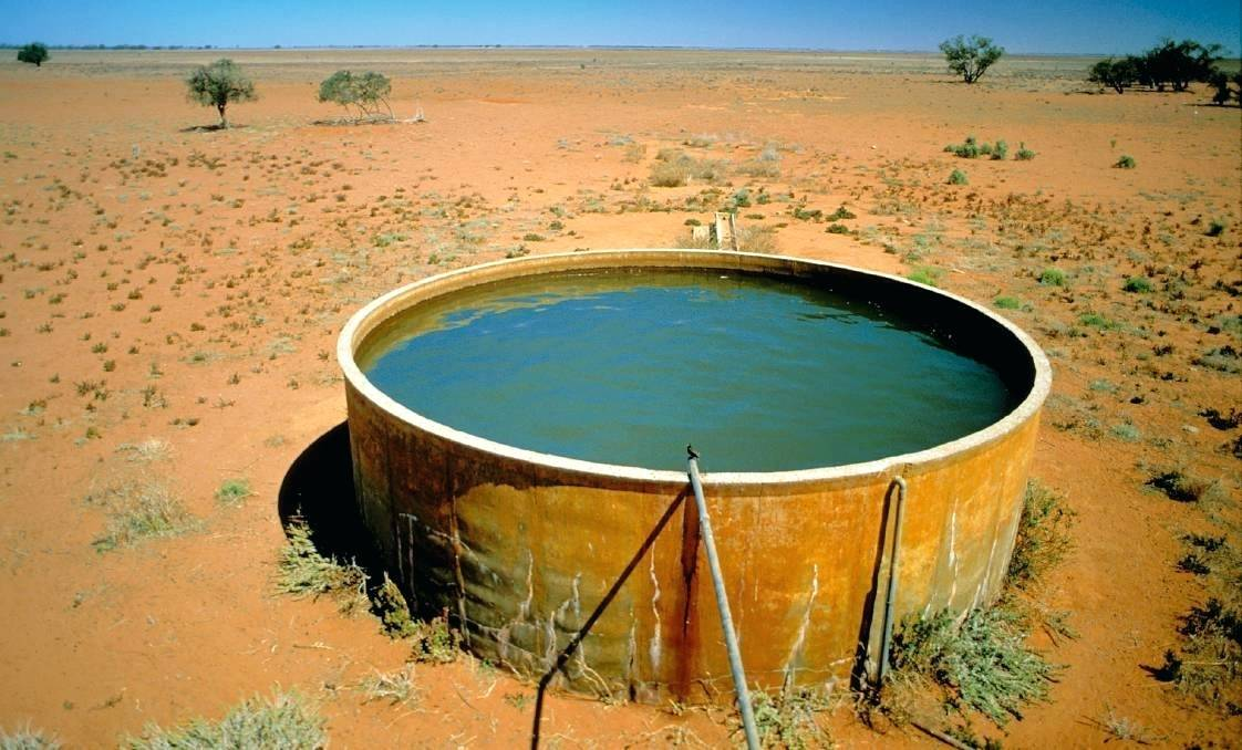 Concrete water tank for drought